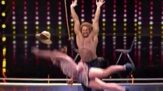 Muscle Man Jujimufu Throws A Woman On Judge Cuts 1 | America's Got Talent 2016 | Episode 8