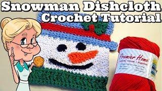 EASY Snowman Dishcloth - Crochet Tutorial