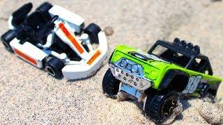 Игры Гонки в песке - Джип и маленькая Машинка - Развлечения