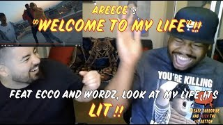 Gambar cover A REECE, ECCO & WORDZ - WELCOME TO MY LIFE (OFFICIAL MUSIC VIDEO) (Thatfire Reaction)