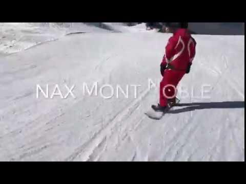 Skifahren im Skigebiet Nax