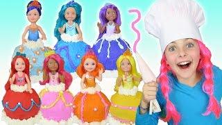 🌈 How To Make RAINBOW Barbie Dreamtopia Dress Cupcakes | Giant Princess Cupcake | Kids Cooking