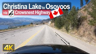 Driving from Christina Lake to Osoyoos in British Columbia 🇨🇦