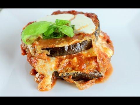 Receta Italiana Lasaña de Berenjena Sin Pasta – Eggplant Lasagna