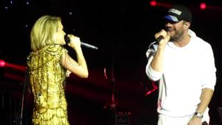 Carrie Underwood & Sam Hunt - Heartbeat (Live) C2C London O2 12/03/16
