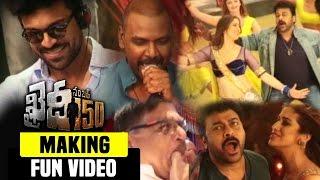 Khaidi No 150 Movie Making Fun On The Sets  Chiranjeevi Kajal Agarwal VV Vinayak Ram Charan
