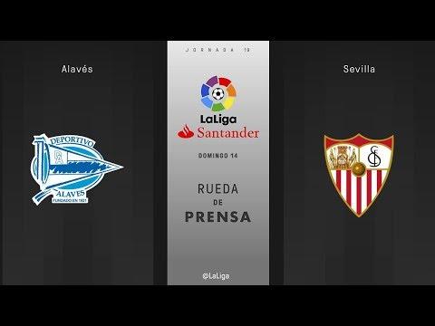 Rueda de prensa Alavés vs Sevilla