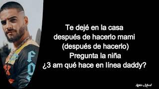 Sech, Justin Quiles, Maluma, Nicky Jam, Farruko, Dalex, Lenny Tavárez - Que mas pues LETRA