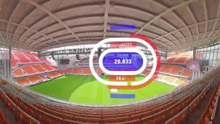 2018 FIFA World Cup: Ekaterinburg Arena (360 VIDEO)