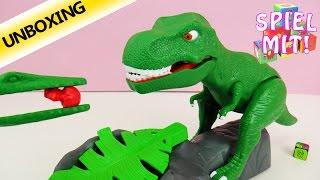 Dino Meal - Heftiges Spiel mit T-Rex - Wer kann die Eier vorm Tyrannosaurus rex retten? Unboxing