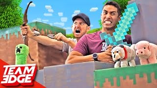 Minecraft Battle In Real Life!!