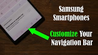Customize The Navigation Bar on Your Samsung Smartphone (Note 10, S10, Note 9, S9, and more)
