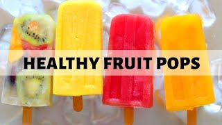 4 Fruit Popsicles Recipes | Homemade Ice Cream Popsicles | Frozen Fruit Lollies (Hindi)