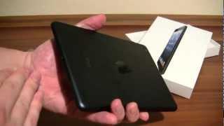Ausgepackt: Apple iPad mini Tablet in schwarz Unboxing [German]