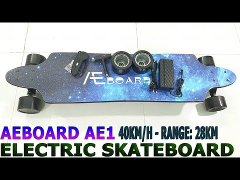 40Kmh AEBOARD AE1 Unboxing Review – Best Electric Skateboard With 10S 3P Battery