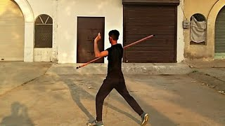 Easy way of learn double bostaff move in Martial arts - ฟรี