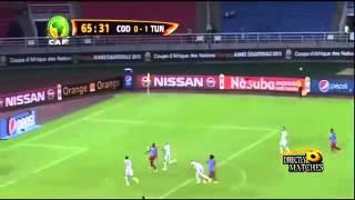 اهداف مباراة تونس و الكونغو الديمقراطية 1-1 الاهداف كاملة 26-1-2015 HD
