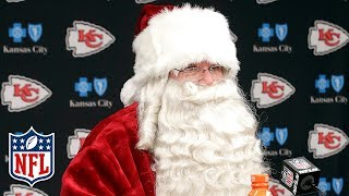 Andy Reid as Santa Claus Talks About His Team After the Game! | Dolphins vs. Chiefs | NFL Wk 16