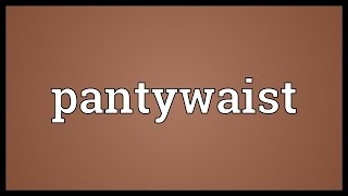 Pantywaist Meaning