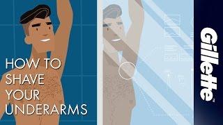 Shaving Armpit Hair   Men's Grooming Tips with Gillette STYLER & BODY Razor