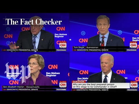 Fact-Checking the January Democratic debate | The Fact Checker