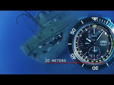 Oris Aquis Depth Gauge Chronograph Underwater