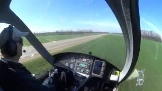Прикольный перелет на автожире M-24 Orion АЭ Бабиче-Кореновск 8марта 2016г