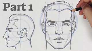 How To Draw A Face From Any Angle   Part 1 - Front & Side View