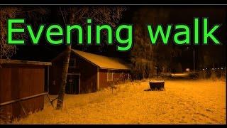 Evening walk-Nokia in Finland-SonyAX100E 4K NIGHT test video
