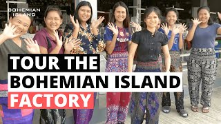 Bohemian Island Factory Tour: How We Make Our Harem Pants