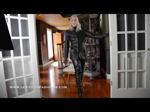 BLACK LEATHER AND THIGH BOOTS