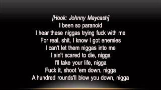 French Montana  Paranoid Feat. Young Cash) (Lyrics on screen)