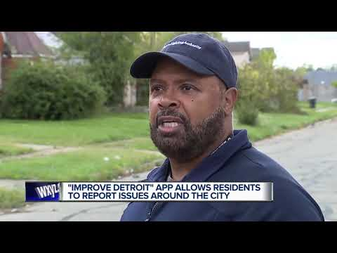 Improve Detroit app allows residents to report issues around the city