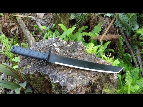Cold Steel Tactical Tanto Machete Test