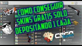 COMO CONSEGUIR SKINS GRATIS  DE CSGO SOLO DEPOSITANDO 1 CAJA ¡¡ CSGOTUNE.COM 2018