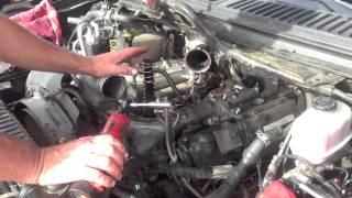 Bulletproof EGR cooler with Ford oil cooler. 6.0 Powerstroke