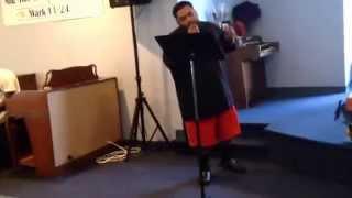 Steve Frost singing shelter by John Legend