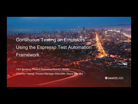 Using The Espresso Test Automation Framework and Emulators Related YouTube Video