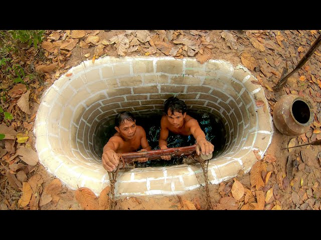 Build The Most Temple Swimming Pool With Water Slide To Tunnel Underground Pool