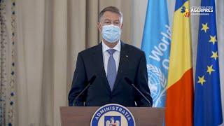Coronavirus/Iohannis: În România, ca şi în alte ţări - un val epidemiologic virulent; respectarea măsurilor - dovadă de responsabilitate