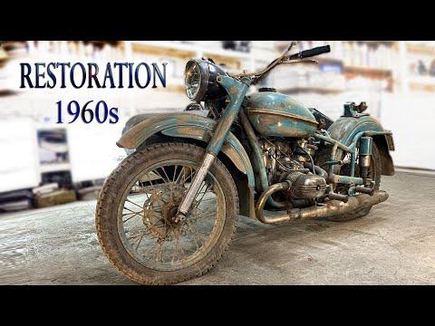 Восстановление старого мотоцикла из 1960-х | Old Soviet motorcycle full Restoration