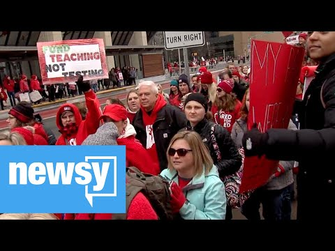 Thousands march for Red For Ed Action Day