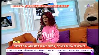 Lumy Nitsa, direct din America, cover după piesa lui Beyonce - Halo