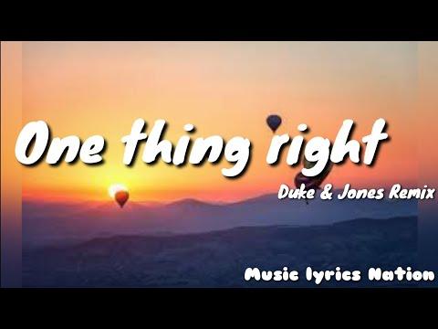 Marshmello × Kane Brown - One Thing Right (Duke & Jones Remix) {Remix}    Music Lyrics Nation