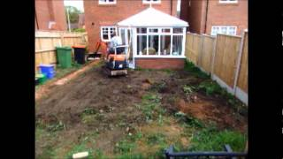 How to drive a mini digger.