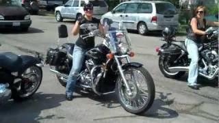 2ND POLISH WOMEN  MOTORCYCLE RIDE 2011 GALENA IL.