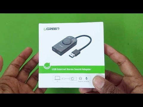 UGREEN USB External Sound Card Adapter UNBOXING & first Use.