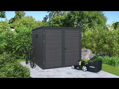 Video: WPC Garten- und Gerätehaus Modell Eleganto