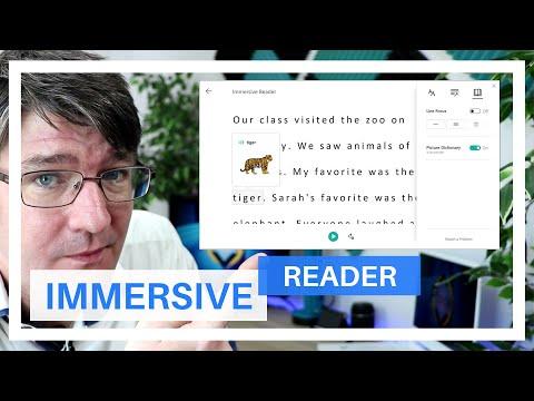 Screenshot of video: Immersive Reader