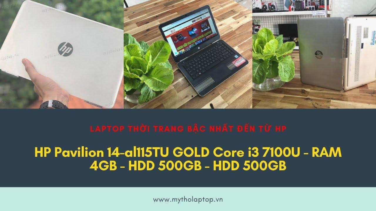 Laptop thời trang HP Pavilion 14-al115TU màu GOLD cá tính bậc nhất